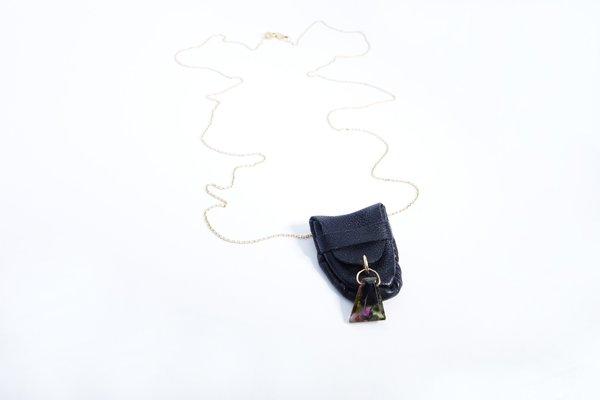 Talisman Tourmaline Pouch Necklace