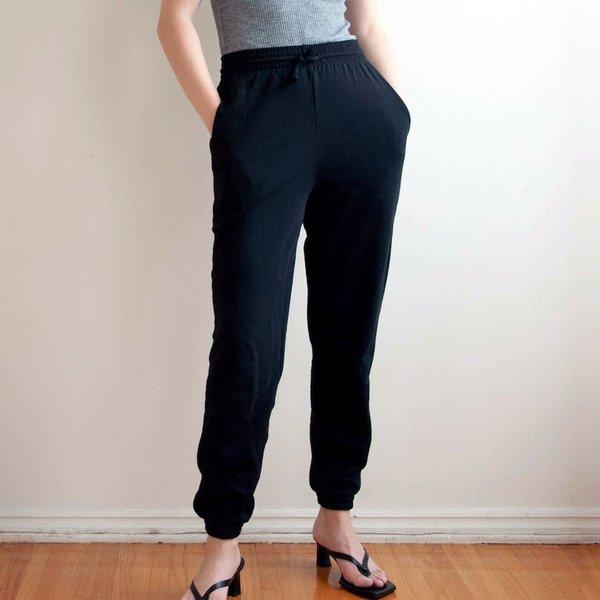 Baserange Italian Fleece Sweatpants - Black