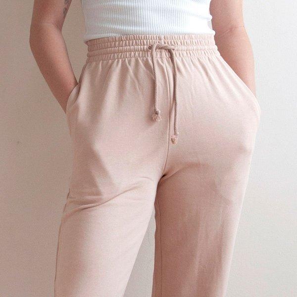 Baserange Italian Fleece Sweatpants - Nude