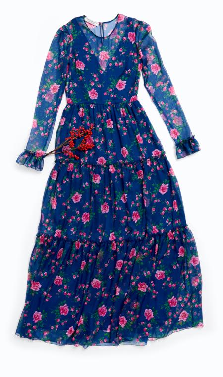 Lorenzo Serrafini Philosophy Dress - Blue Rose