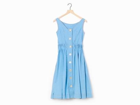 Marni Overdyed Chambray Dress - Blue