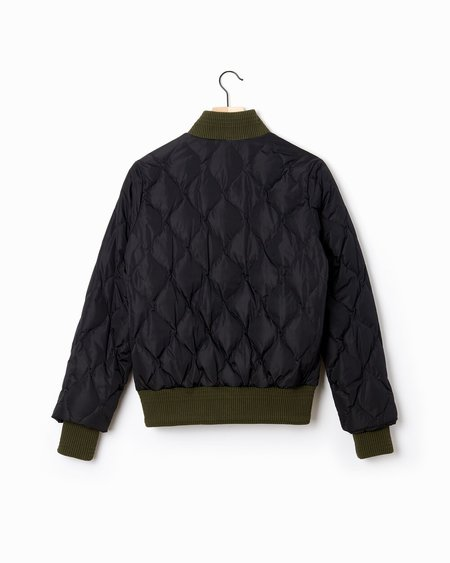 Marni Quilted Bomber Jacket - Olive