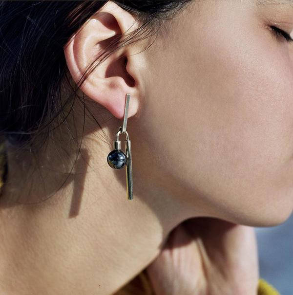 Quarry Adelaide Earrings - Hematite