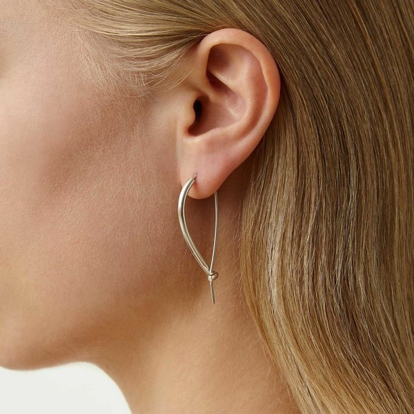 Quarry Large Triptych Earring - Solid silver