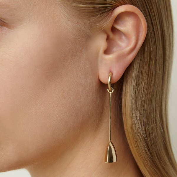 Quarry Riboud Earrings - white bronze