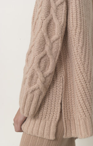 ELEVEN SIX CLARE SWEATER - PRALINE