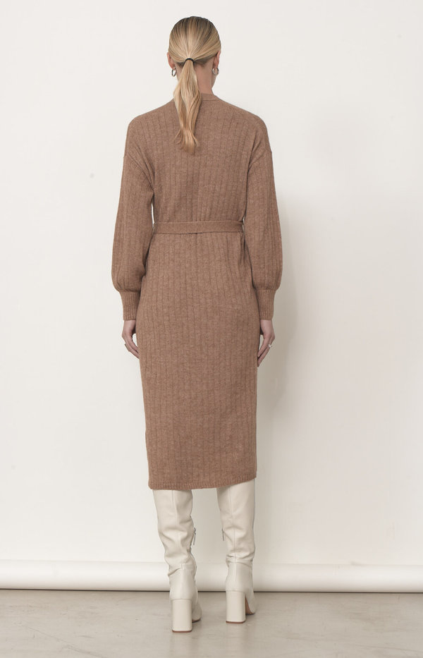 ELEVEN SIX ERICA CARDI-DRESS - CAMEL