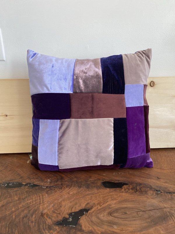 shopconrado Velvet Patchwork Pillow