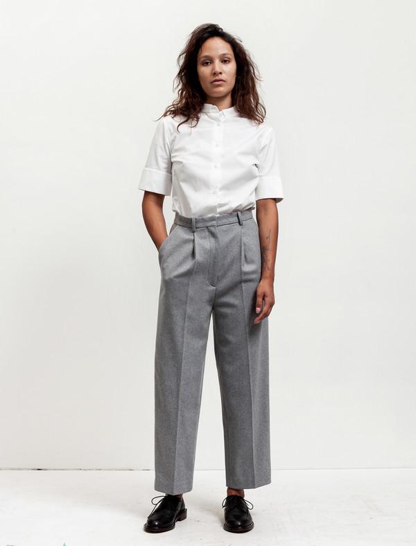 3df5534af03c Acne Studios Womens Milli Wool Trousers Soft Grey   Garmentory
