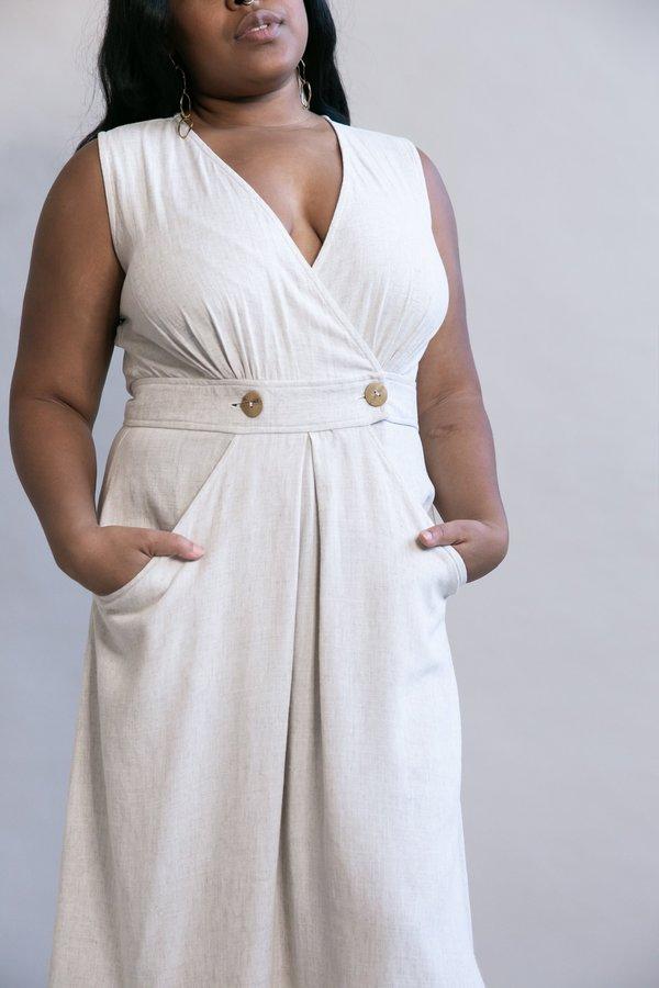 Field Day Winona Dress - Oat Linen
