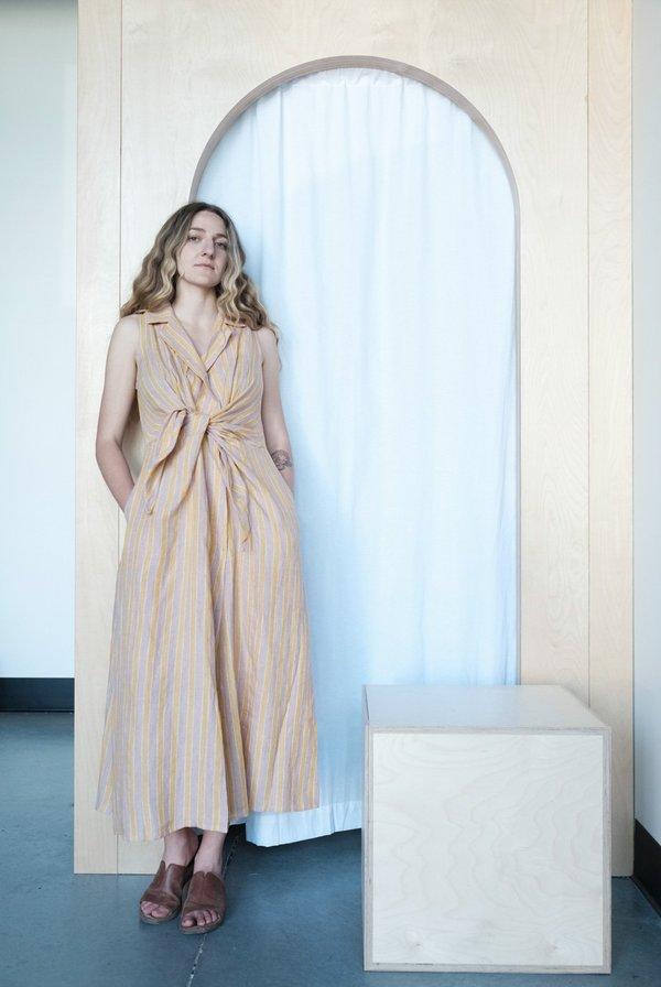 RUJUTA SHETH Emily Dress - Dusk/Dawn Stripe