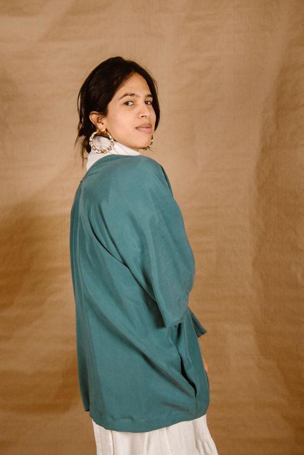 Meçlâ Short Nahida Robe - Sky Blue