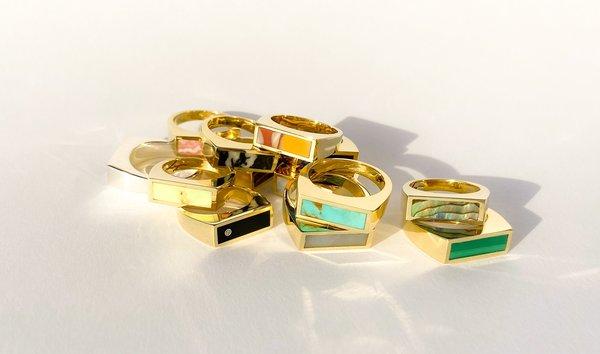 Legier Small Yellowhorse Palomino Stone Signet Ring