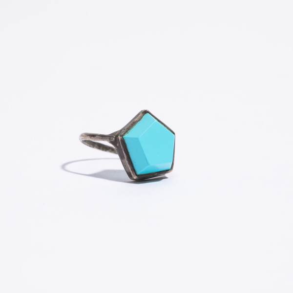 Aesa Hexagon Ring - Turquoise