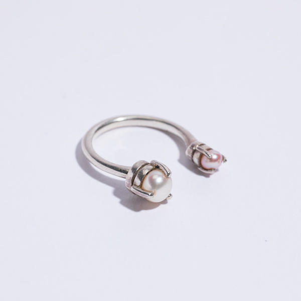Aesa Crazy Wave Ring - sterling silver