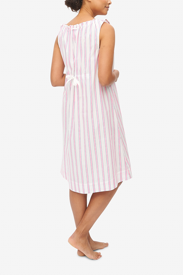The Sleep Shirt Sleeveless Nightie Fluo - Pink Stripe