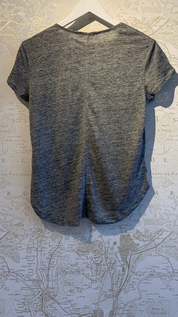 FRAME Denim Classic Linen Tee - grey