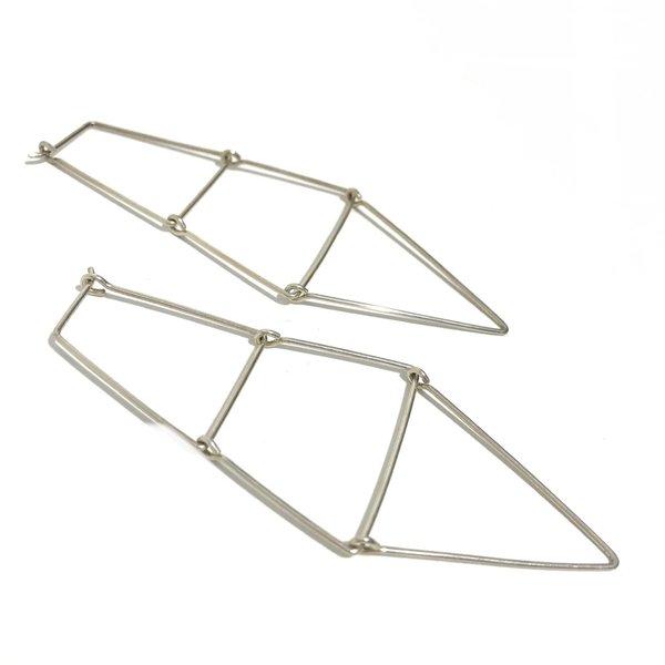 Kari Woo Kinetic Ladder Earrings - sterling silver