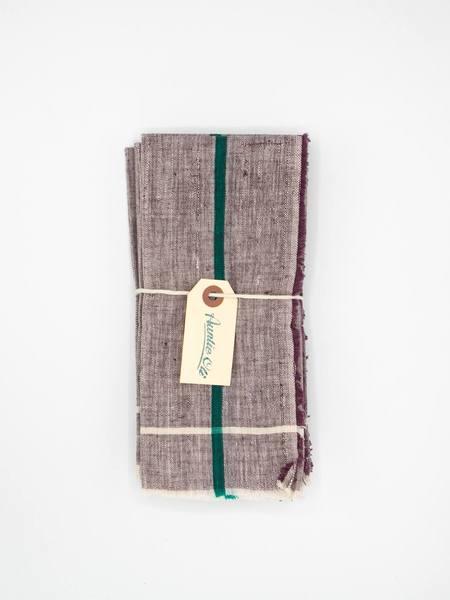 Auntie Oti Khadi Cotton Napkin Set - Purple