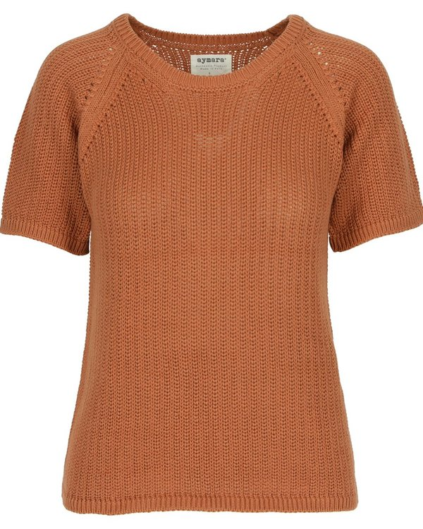 Aymara Kori Chunky Knitted Sweater - Copper