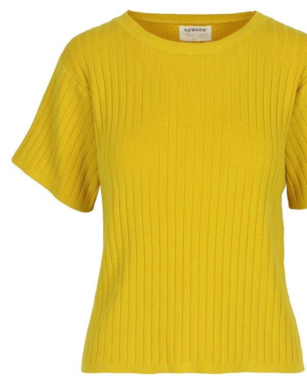 Aymara Nola Ribbed Knit Sweater - Oro