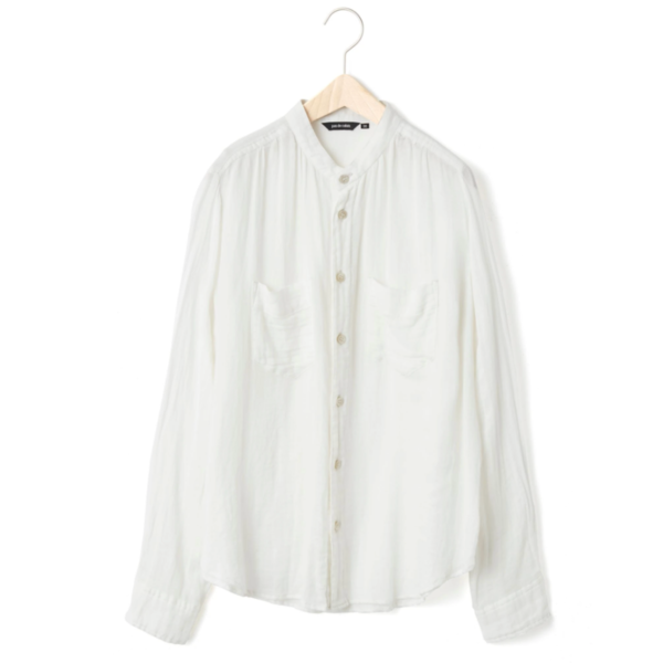 Pas de Calais LIGHT COTTON DRESS SHIRT - White
