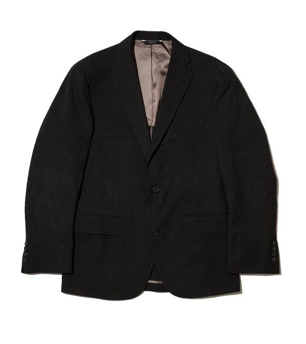 Freemans Sport Coat - Black Seersucker