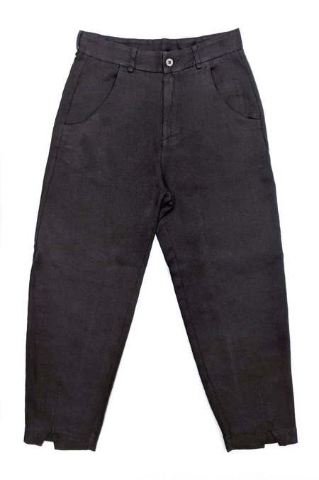 Transit Par Such Linen Trouser - Black