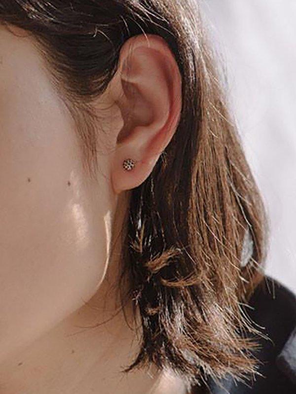 blanca monrós gómez dot earrings - 14k gold
