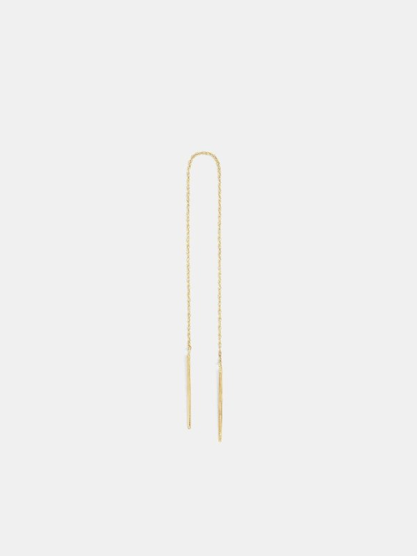 blanca monrós gómez long stitch earring - 14k gold
