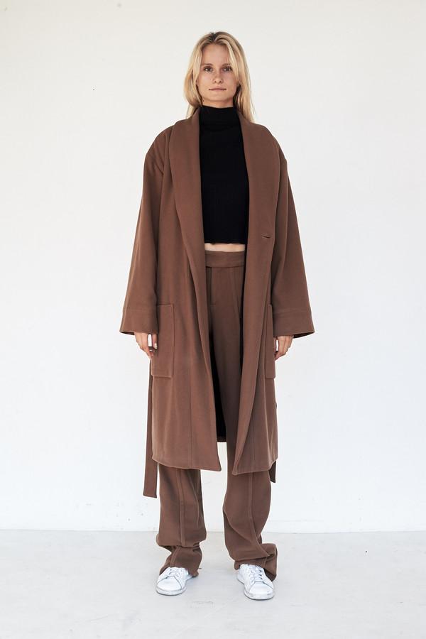 Wool Full Robe Coat