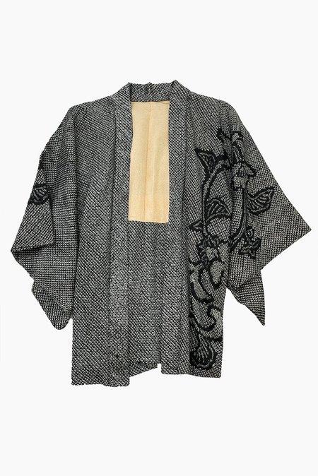Iki Kimono Vintage Shibori Kimono - Floral Vine