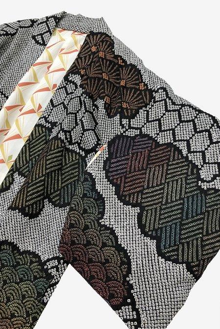 Iki Kimono Vintage Shibori Kimono - Rainbow