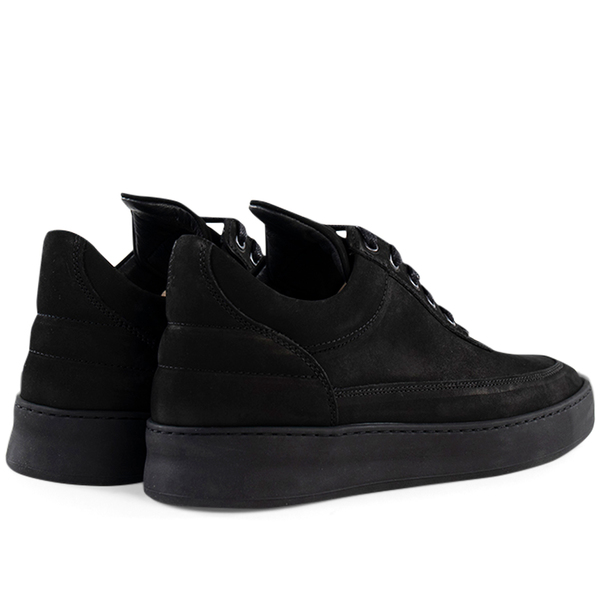 Filling Pieces low top plain lane nubuck - All Black