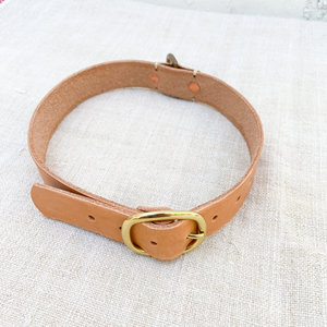 Made Solid Dog Collar - Tan