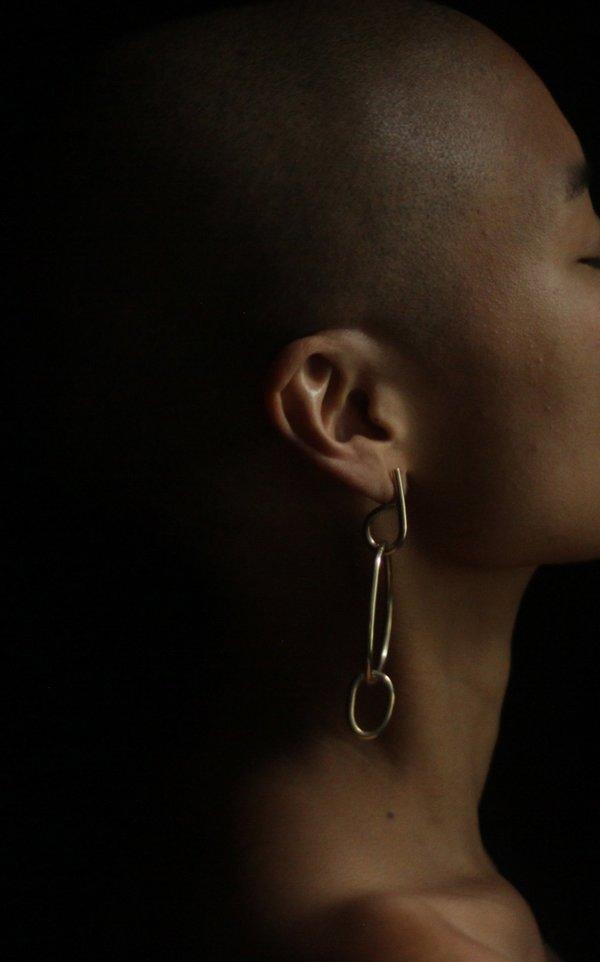 Fay Andrada Moni MD Earrings - Brass