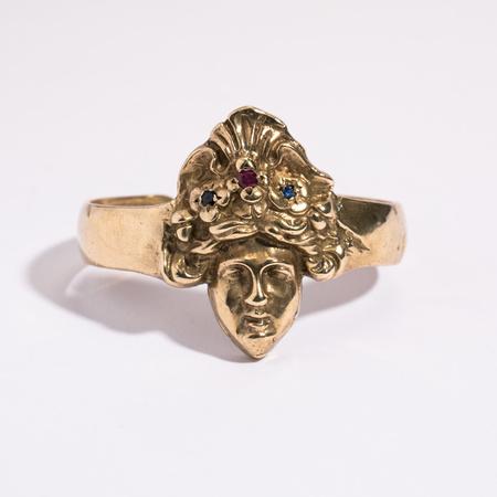 Saint Claude x Freda Ladyface Cuff with Stones - brass