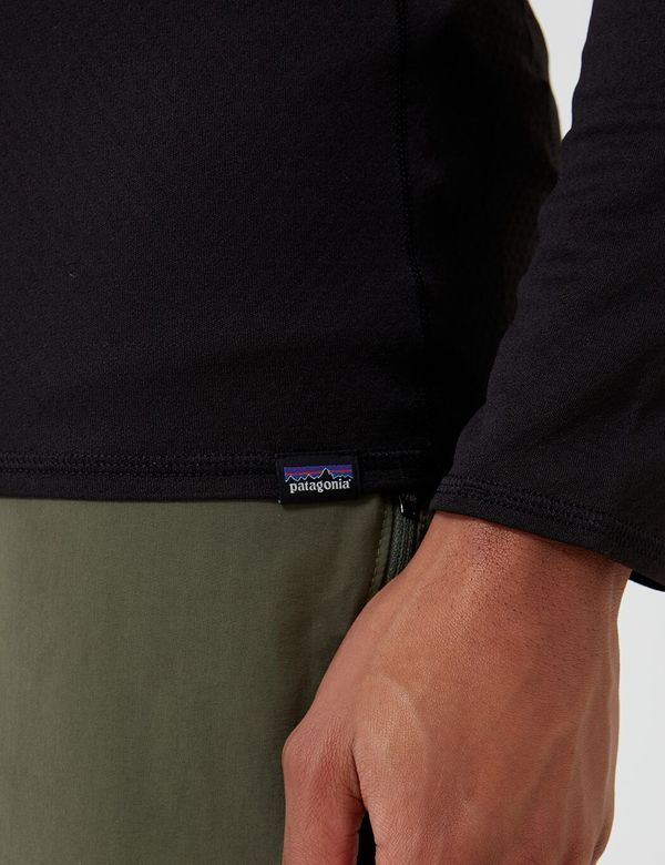 Patagonia Capilene Midweight Zip Neck Long Sleeved Running Top - Black