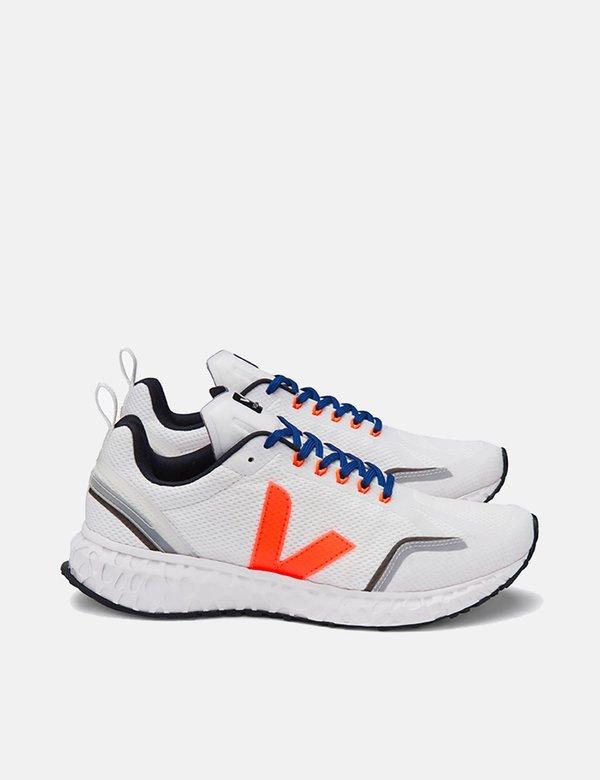 Veja Condor Running Shoes - White/Orange Fluo