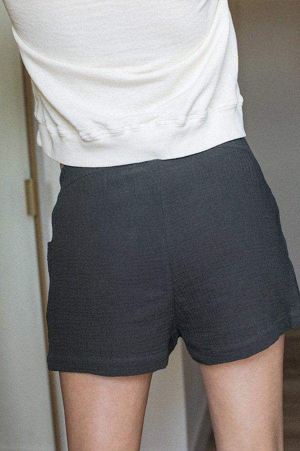 BACK BEAT RAGS Organic Cotton Boxer Shorts - Vintage Black