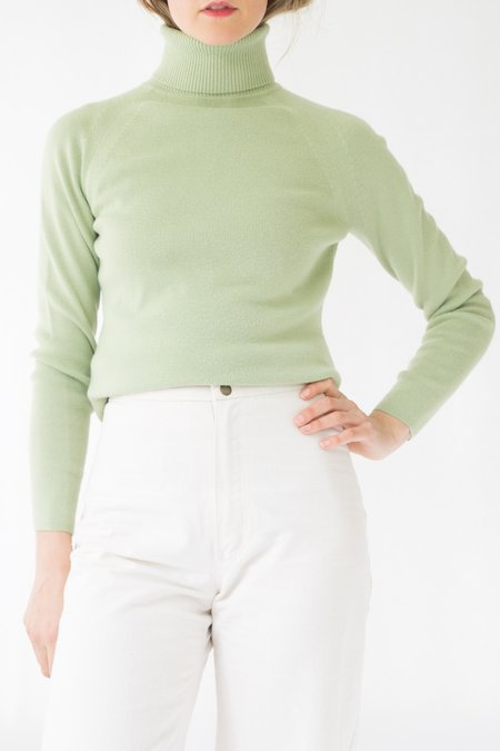 Vintage Ann Taylor Loft Turtleneck Sweater - green
