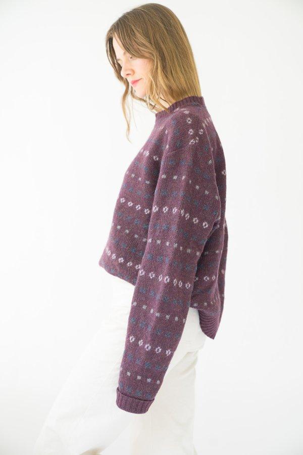Vintage Wool Sweater - dark purple