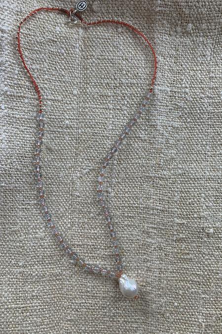 Hamoa Handmade Baroque Pearl Necklace - blue