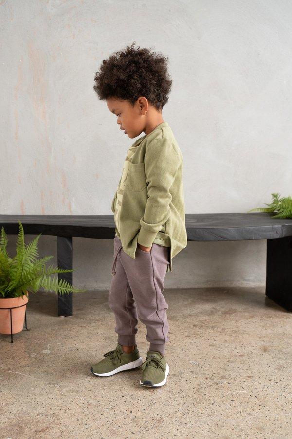 kids Omamimini Textured Terry Sweatpants - Stone