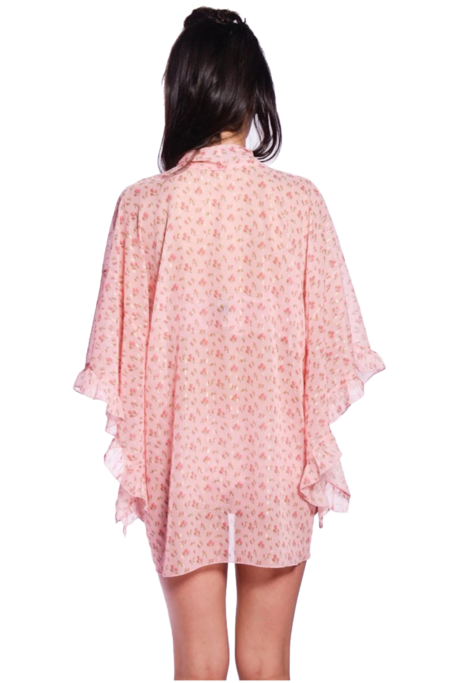 Anna Sui Rosebuds Caftan - Blush Multi