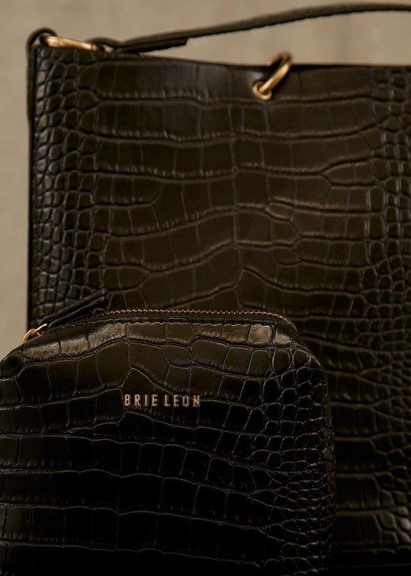 BRIE LEON Mini Bucket Bag - Matte Croc