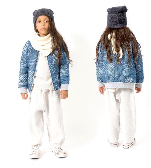 Kids nico nico Lhasa Quilted Bomber - Indigo Bandana