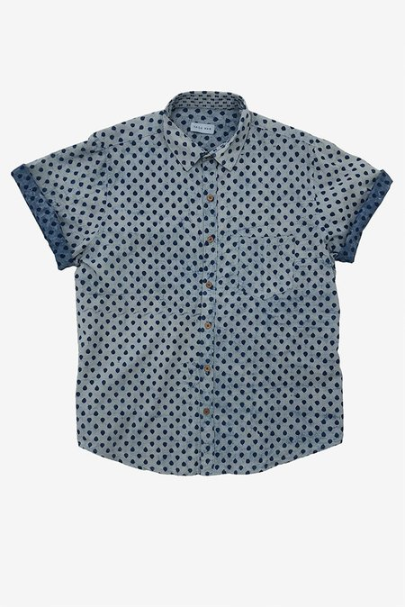 Raga Man Indigo SS Button Down Shirt - Drops