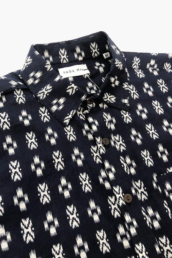 Raga Man Point Collar Shirt - Navy