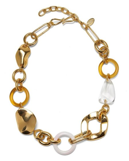 Lizzie Fortunato ABSTRACT LINK COLLAR - GOLD